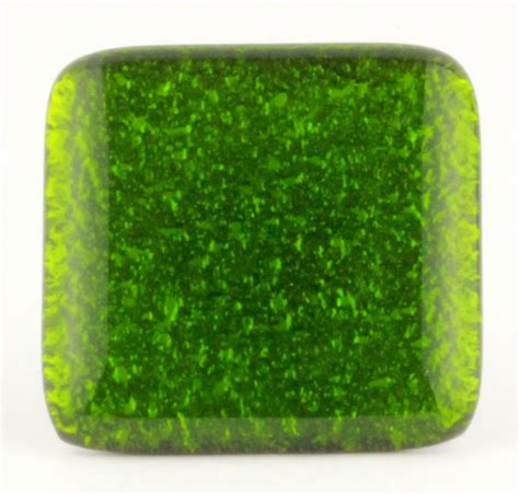 Green Glass Knob by Green Glass Knob With Gloss Finish Satin Nickel Base 1 1 2 Quot