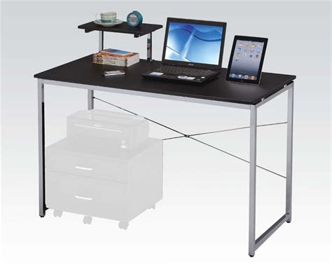 black and silver computer desk black and silver computer desk black and silver computer
