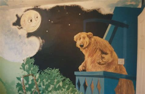 the moon the bear and the big blue house murals rob d davies