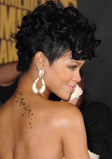 Rihanna Mohawk Hairstyles by Curly Mohawk Hairstyles
