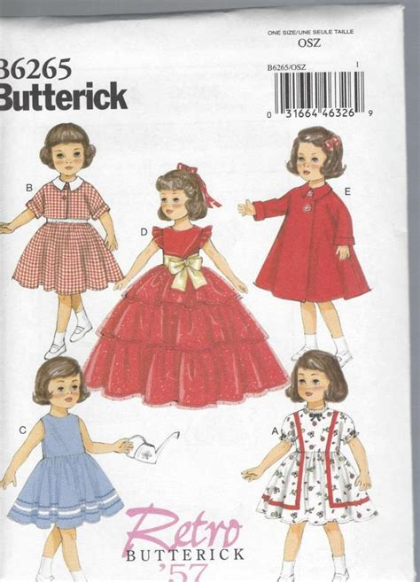 clothes pattern uk butterick sewing pattern 18 inch doll clothes dress jacket