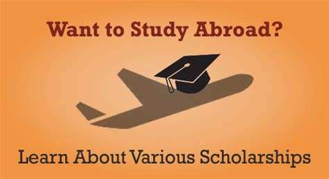 want to study abroad learn about various scholarships