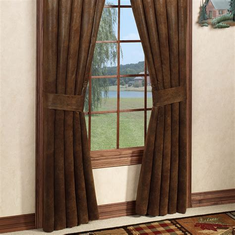 curtains rustic montana morning rustic window treatment