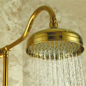 luxury polished brass outside bathroom shower and faucets