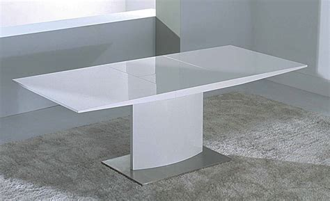 White Extendable Dining Table by Modern Extendable White Lacquer Dining Table Cr2014