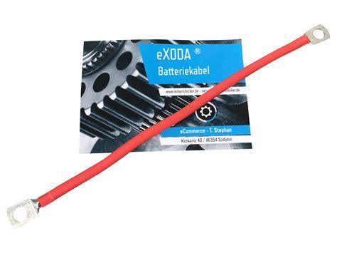 Kabel Strum 8 Awg batteriekabel 25 mm2 150cm mit ring 246 sen m8 schwarz auto