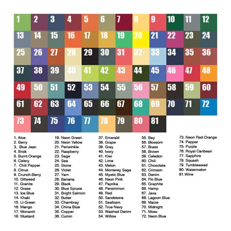 comfort colors colors chart atomic ink
