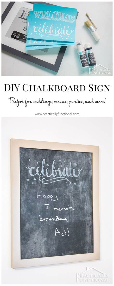 chalk paint diy sign diy chalkboard sign