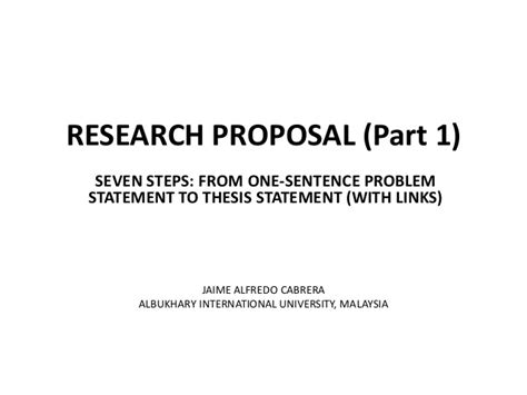 exle of problem statement in thesis research 1 problem statement to thesis statement
