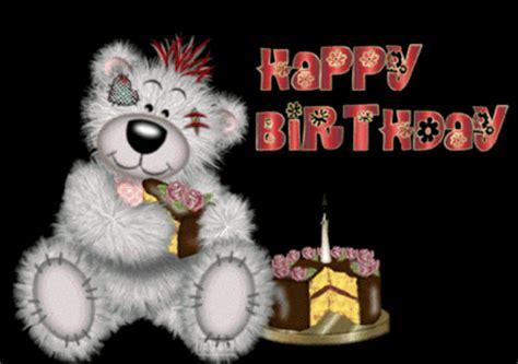 happy birthday black background candle red text bear happy birthday myniceprofilecom