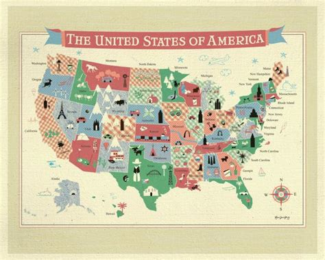 map of the united states poster poster map of the united states of america wall art for