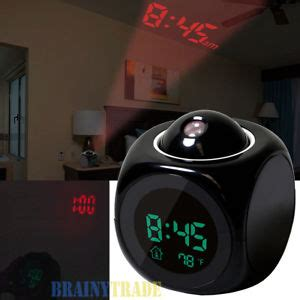 alarm clock led wall ceiling projection lcd digital voice talking temperature 848454049776 ebay