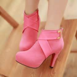 pink ankle boots shoes and beauty