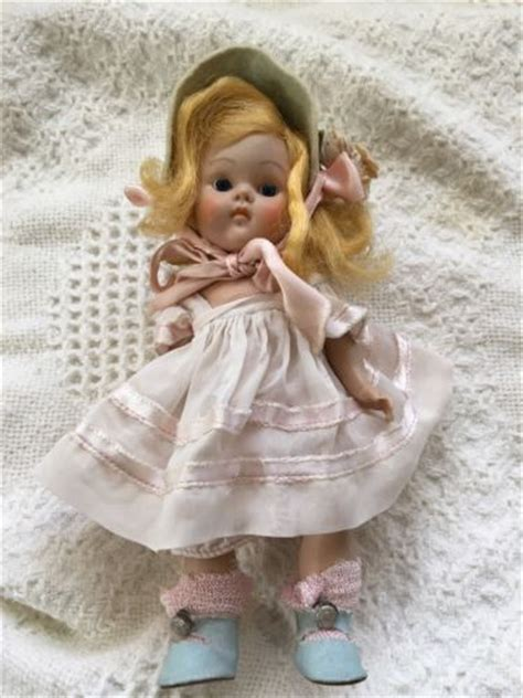 8 inch composition doll antique vintage vogue ginny composition toddles doll 1940