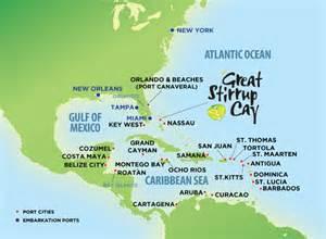 Caribbean Cruise Map eastern caribbean western caribbean amp southern caribbean