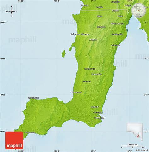 physical map  yorke peninsula