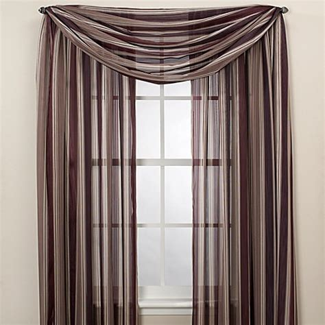 Brady Striped Sheer Window Curtain Panels Bed Bath Beyond