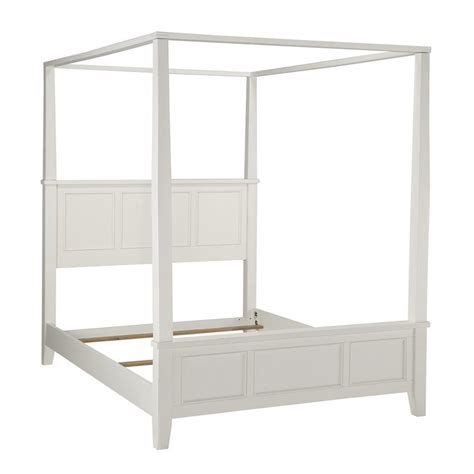 white queen canopy bed shop home styles naples white queen canopy bed at lowes com