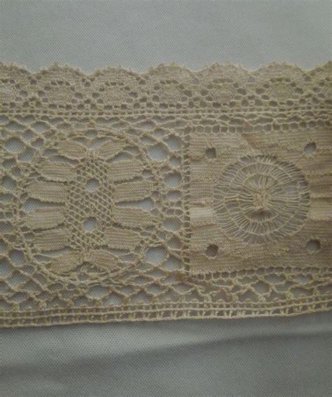 Bobbin Lace Pillows For Sale by Vintage Ecru Bobbin Lace Edging 4 Yds Estate Sale Pillow