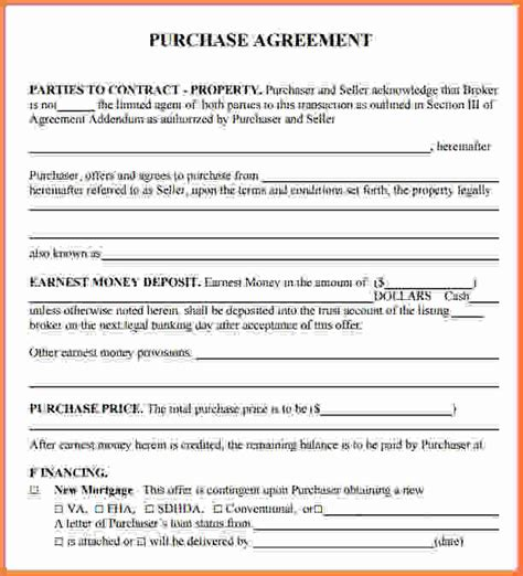 real estate purchase agreement template 7 free printable real estate purchase agreement sales