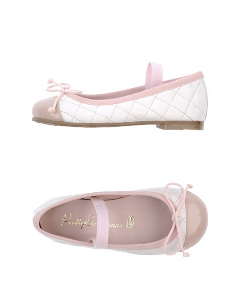 Pretty Flats by Pretty Ballerinas Two Tone Ballet Flats In White Lyst