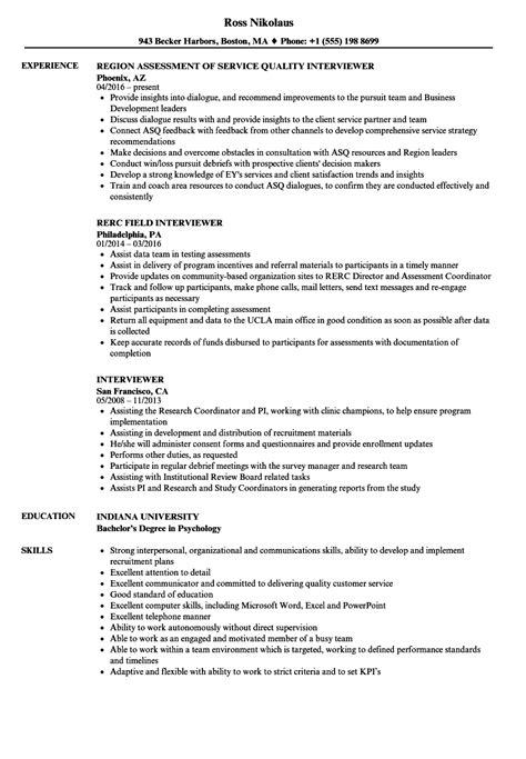 amazing phone interviewer description for resume