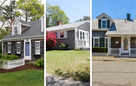 five cape cod houses for sale with faded cedar shingles