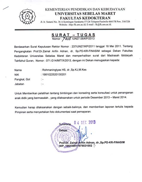 contoh surat tugas dokter spesialis 28 images form isian d 1 1