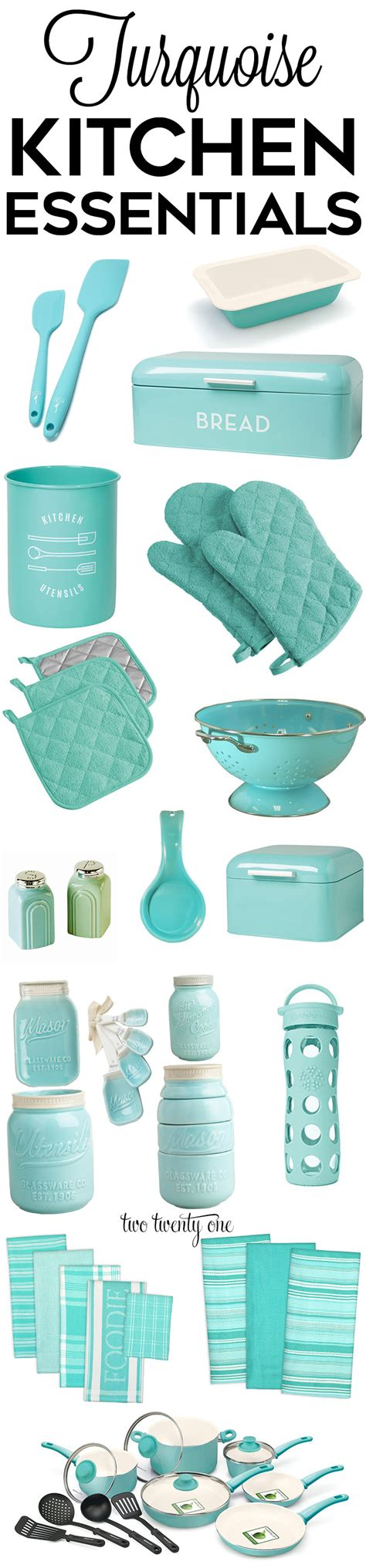 Teal Kitchen Accessories by Turquoise Kitchen Decor Appliances