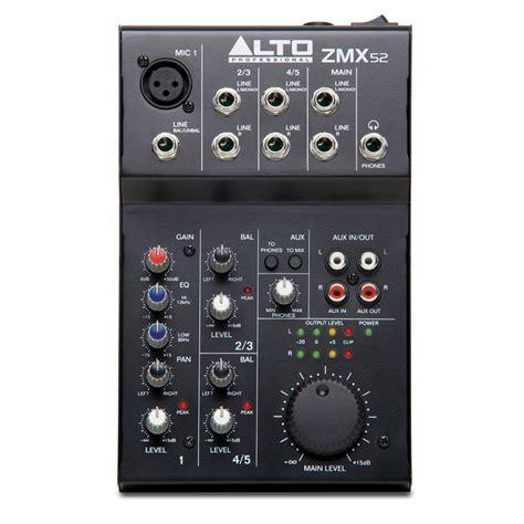 Alto Mixer Live Zmx52 alto alto zmx52 compact mixer live recording scayles