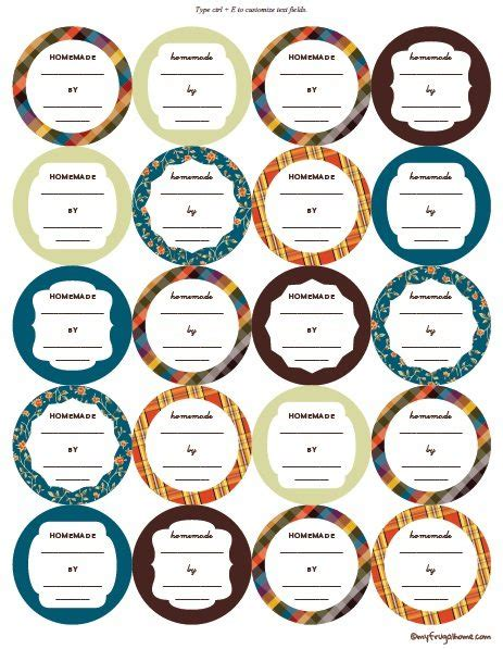 canning labels template free printable canning jar labels