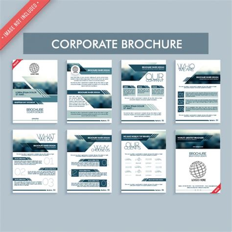 great corporate brochures vector premium download
