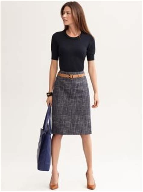 textured indigo pencil skirt beaded puff sleeve pullover