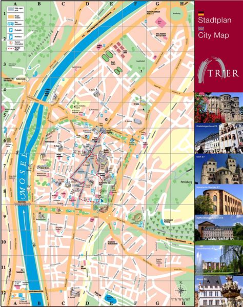 tourist map germany trier tourist map