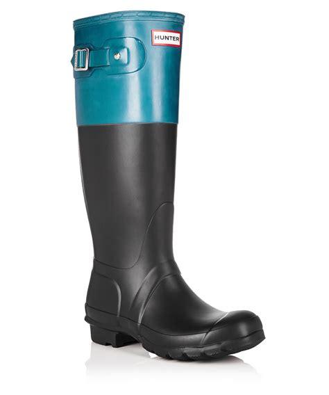 matte black wellies black blue matte wellington boots designer