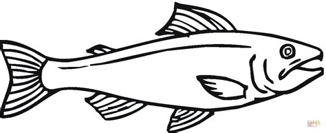 salmon template salmon 12 coloring page free printable coloring pages