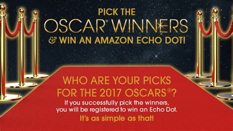 Oscar Nominations My Picks by The Oscars Winners And Win An Echo Dot