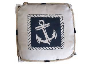nautical decorative pillows buy navy blue and white anchor decorative nautical pillow
