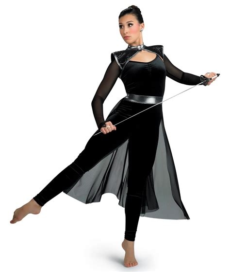 color guard costumes a wish come true g779 mesh panel backskirt