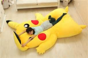 Giant Pillow Chair Pikachu Amp Snorlax Pok 233 Mon Beds I Choose You