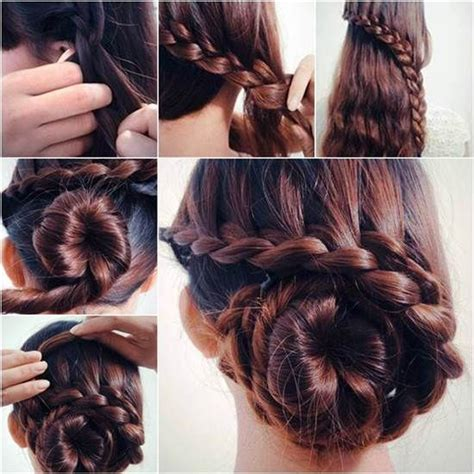 waterfall braid bun 28 diy hairstyles diy waterfall braided bun hairstyle pictures photos and