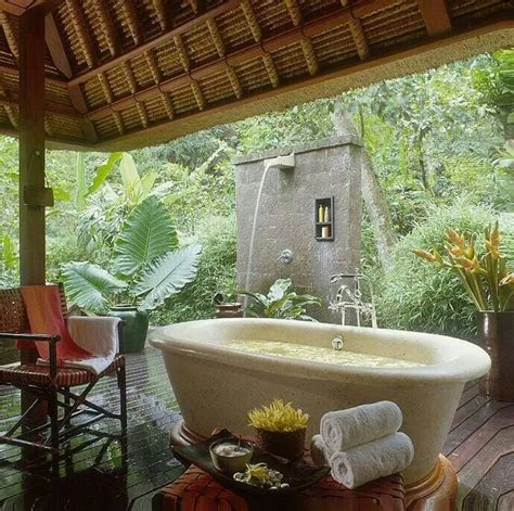 Outdoor Bathtubs Ideas Outdoor Bath For The Home Pinterest