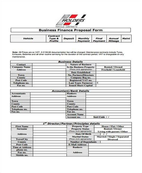 finance forms templates form templates
