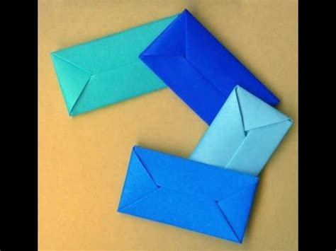 How To Make An Envelope Out Of Wrapping Paper - how to make an envelope without glue or gift wrap