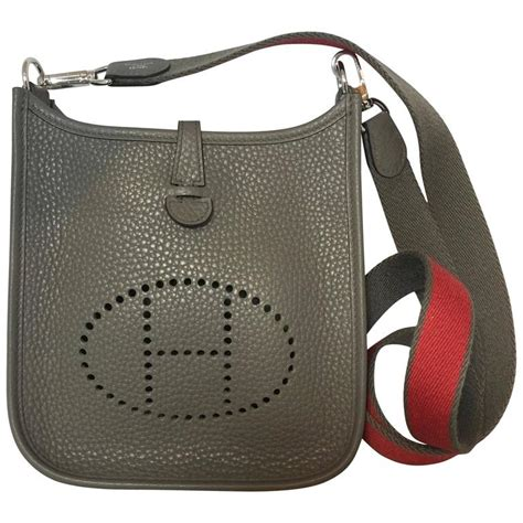 K Mini Clemence 23cm Hermes Clemence Mini hermes tpm mini evelyne bag in etain clemence at 1stdibs