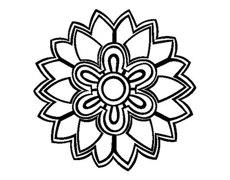 Flower Mandala shaped weiss coloring page   Coloringcrew.com