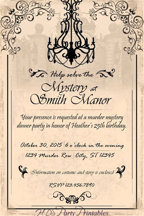 template murder mystery card invitation templates for a dinner gallery