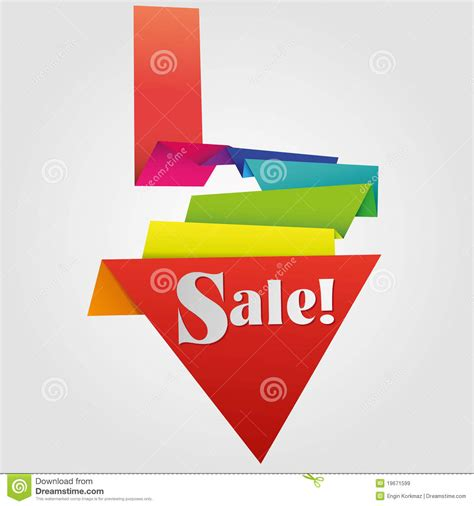 Origami For Sale - origami sale label royalty free stock images image 19671599