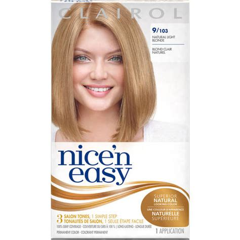how to use nice n easy hair color clairol nice n easy hair color 103 natural light neutral