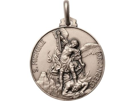 St Michael Medal For Officers by St Michael Archangel Medal 925 Sterling Silver Patron